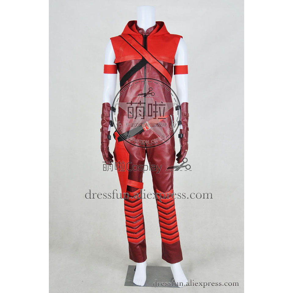 Green Arrow Season 3 Season 4 Cosplay Red Arrow Roy Harper Speedy Costume Uniform Outfits Full Set Halloween Party Fast Shipping