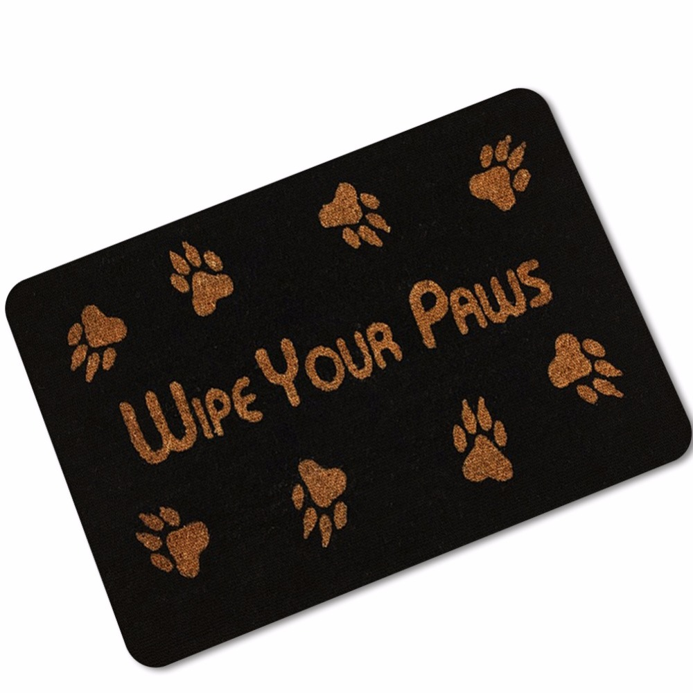Drop Shipping Funny Word Wipe Your Paws Door Mat Carpet For Living
