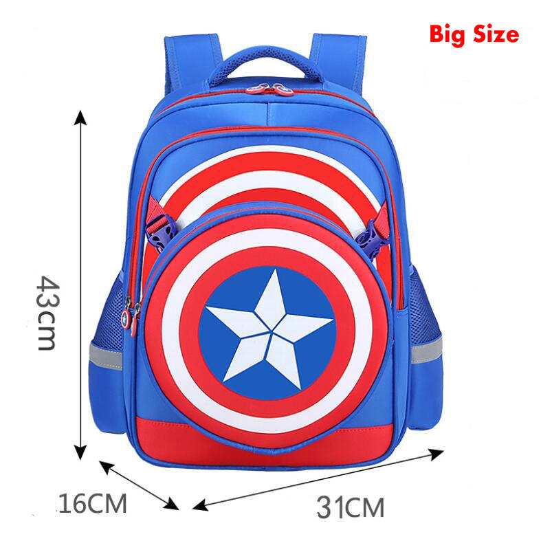 651b9975a9ab New school backpacks avengers captain america cartoon style schoolbags for kids  children shoulder bags mochila infantil-in School Bags from Luggage   Bags  ...