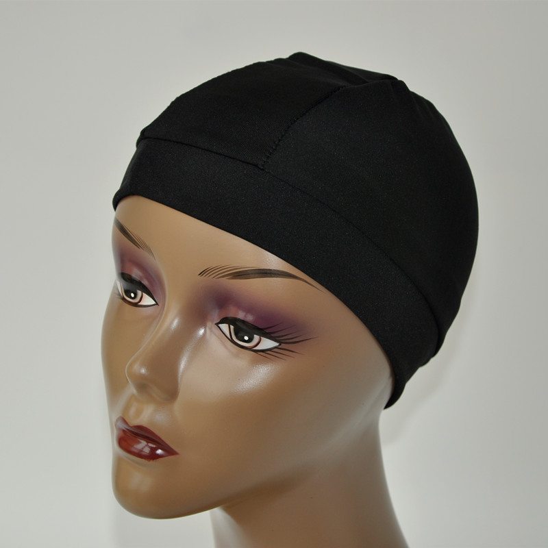 5pcs/lot Black Spandex Dome Cap For Making Wig Snood Nylon Strech Wig Cap High&Tight Band Full Size For The Perfect Fit Wig Cap