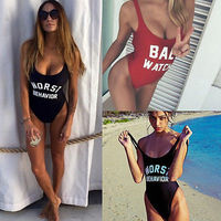 2016 BAE WATCH Swimsuit Bodysuit One Piece Swimwear Women S Red Monokini Rompers Womens Jumpsuit Costume