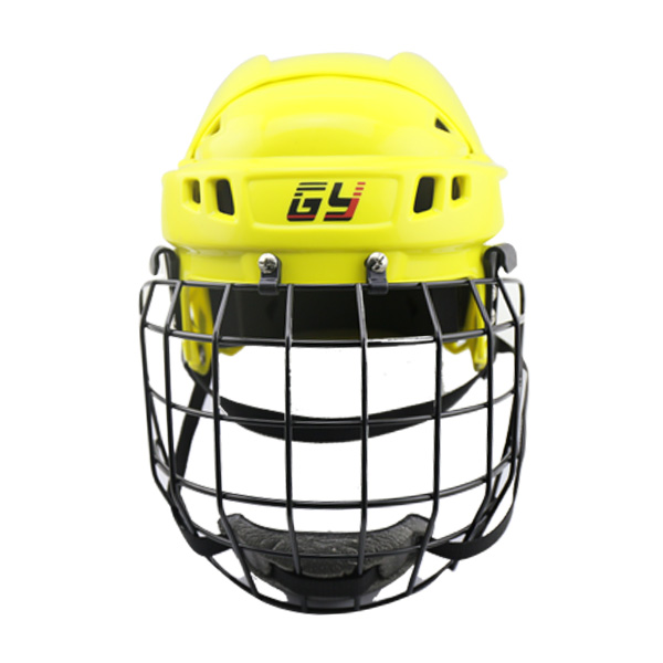 цена на Fluorescent yellow Ice Hokey helmet with CE , Hockey Mask