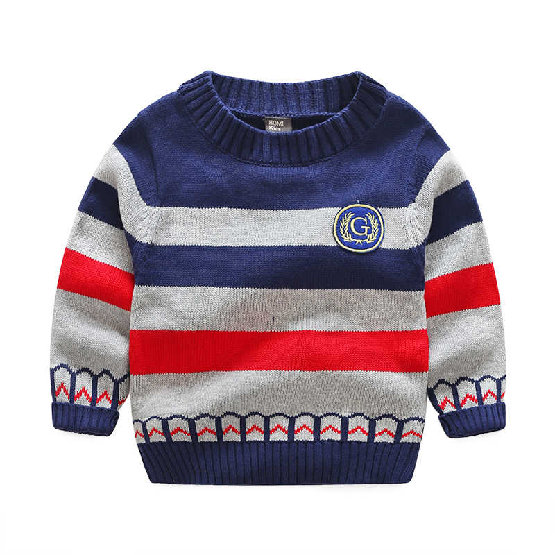 6ae647e2a0db Detail Feedback Questions about Boy s sweater full cotton round ...