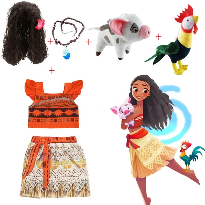 5c17b254e0e24 US $4.29 PaMaBa Kids Moana Adventure Costume Girls Dress Summer ...