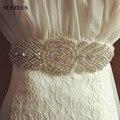 Vestido de casamento Sash Bling Bruidsboeket Cinto de Strass Lindo Frisado Cinto de Noiva para o Casamento De Noiva Acessórios S528