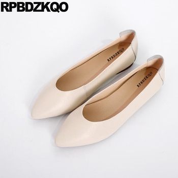2018 Ballerina Shoes China Work Maternity Nude Slip On Soft Ballet Flats Women Designer Ladies Pointed Toe Green Handmade White
