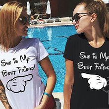 2019 Best Friend T Shirts For Girls BEST FRIEND Letter Short Sleeve T-Shirt T-shirt Summer G0704