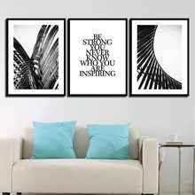 Nordic Inspiration Quote Painting Poster Wall Retro Grey Building Pictures For Living Room Home Decoration Hd Prints On Canvas(China)