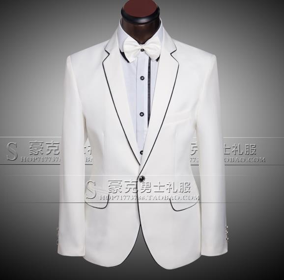 White 2018 new arrival brand-clothing slim men suit set pants mens wedding suits for men groom formal dress suit + pant +tie 4XL