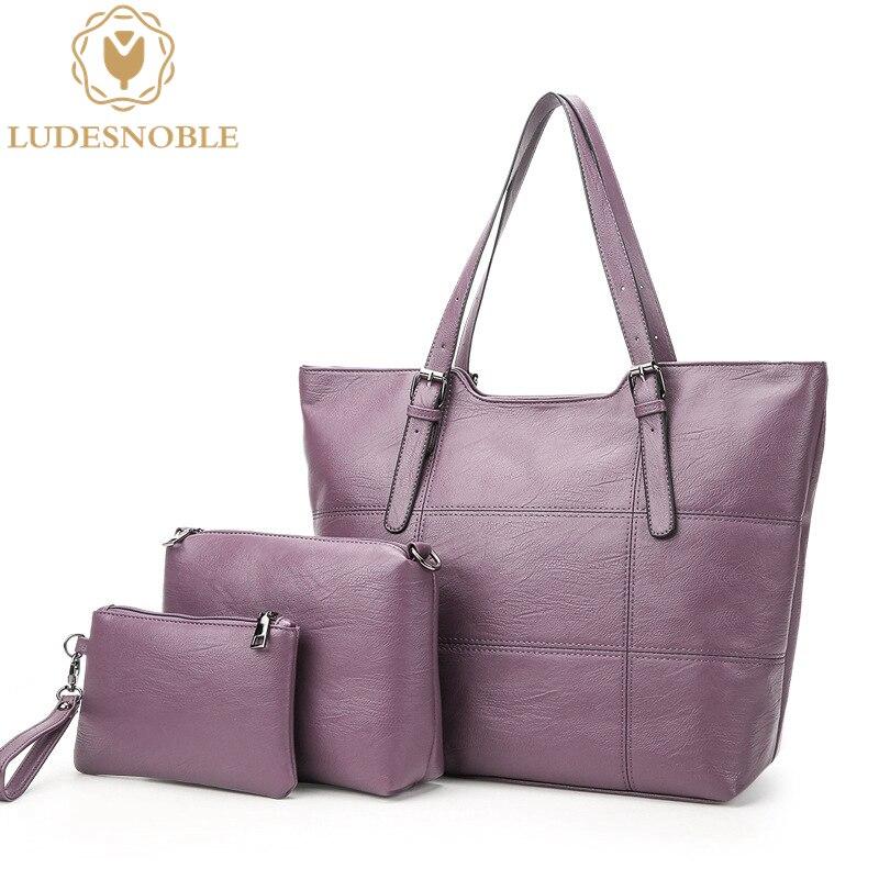 LUDESNOBLE Luxury font b Handbags b font Women Bags Designer Shoulder Bags Women Leather font b