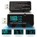 OLED 128x64 USB Probador de voltaje DC voltímetro actual Metros monitor de Capacidad de batería de la Energía Bank cargador de Teléfono qc3.0 detector
