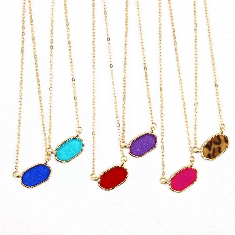 KRIJG HET MEISJE 2016 Nieuwe Collectie BrandClassic Gouden Frame Mini Ovale Hanger Ketting Nieuwe Mode Choker Ketting voor Vrouwen Sieraden