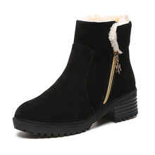 2016 New Fashion Zip Women Snow Boots High Top Flat Boots Big Size Martin Shoes for Women X1029 35
