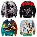 Молодежь популярным высокого качества мальчик бейсбол одежда 3D животных серии персонализированные печати Хип-Хоп одежды С Капюшоном свитер 12-18