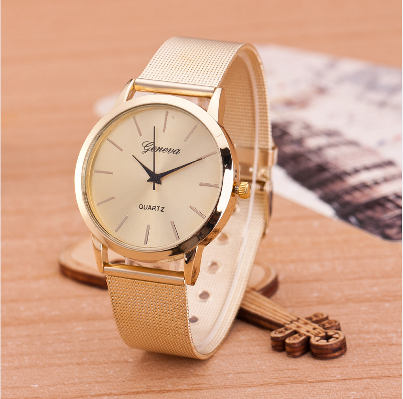 2019 Gold Watch Full Stainless Steel Woman Fashion Dress