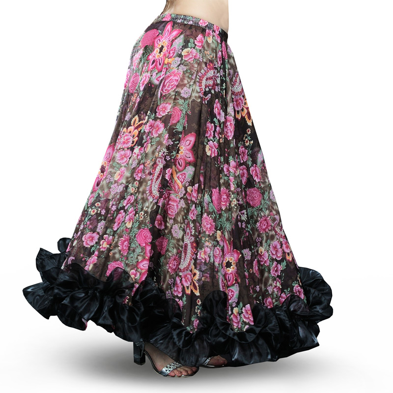 Image 3 - Hot Sale Bellydancing Bohemia Chiffon Large Skirts Gypsy Tribal Belly Dance Skirt  Gypsie  Costume Dress Flamingo Clothing 6041-in Belly Dancing from Novelty & Special Use