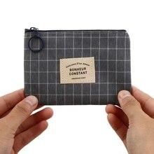 1PC Hot Sale Unisex Card Key Mini Purse Pouch Canvas Bag Small Zipper Coin Purse Card Holder Wallet Four Colors Available
