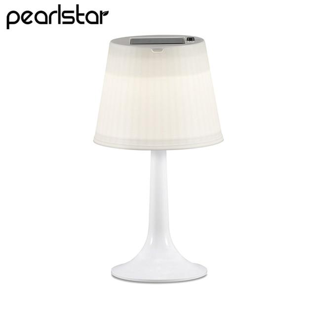 Pearlstar Led Solar Table Lights For Bedroom Living Room Night Sleeping Lamps Desk Lamp Indoor Decoration Panel Light