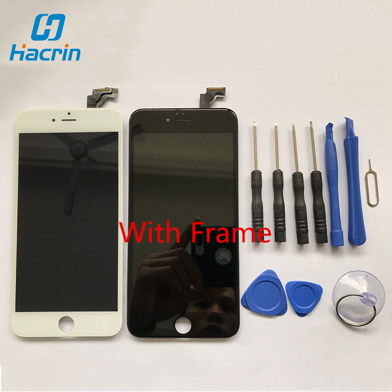 ФОТО 100% Tested High Quality LCD Display Screen 5.5inch New Touch Screen With Digitizer+Frame Replacement for iPhone 6 Plus