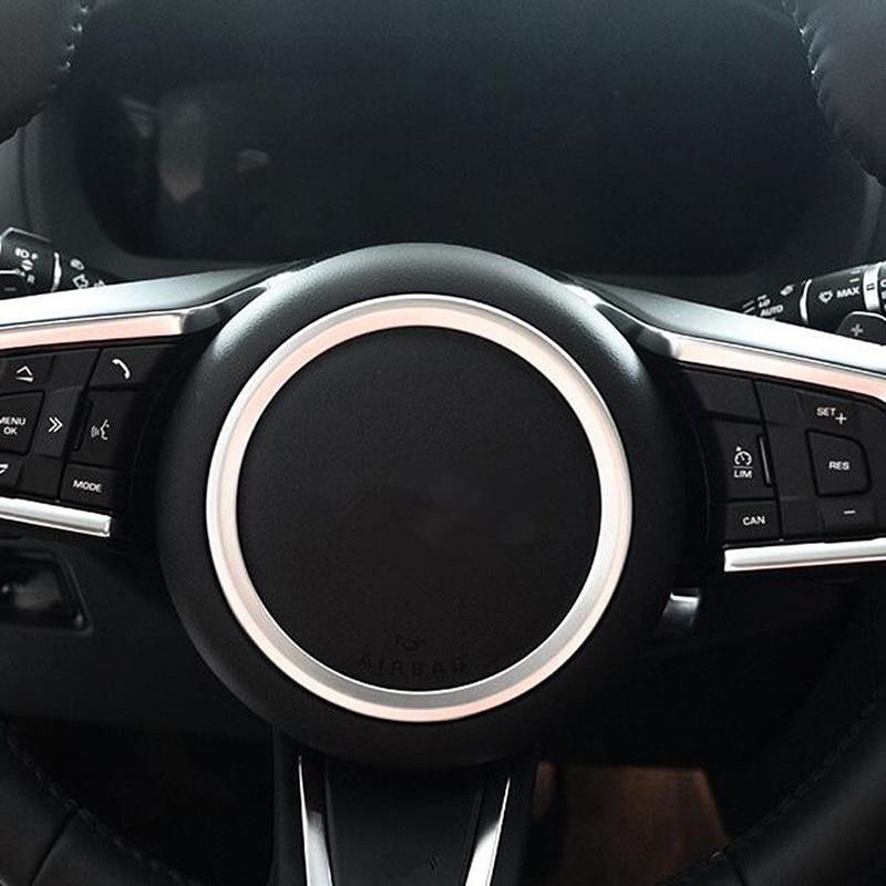 Car Inner Auto Matte Steering Wheel Ring Cover Trim For