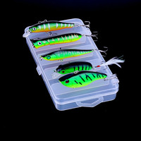 Ufishing Lure Kit Green Red Crank Minnow Popper Pencil Vib Lure Set New Wobblers Set Quality