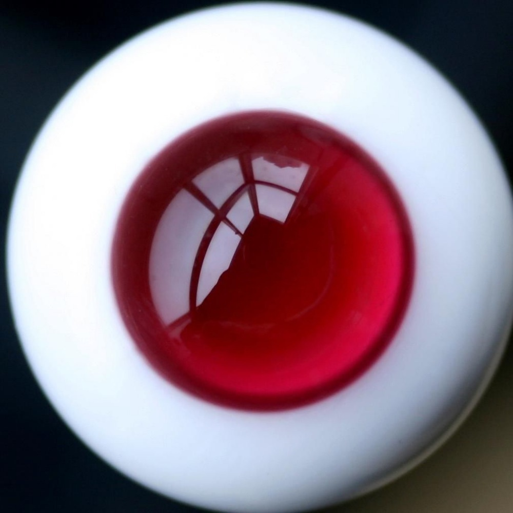 [wamami] Et41# 18mm Red &Red Pupil For BJD Doll Dollfie Glass Eyes Outfit