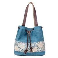 TFTP Для женщин цветочный холст ведро Повседневное сумка испанский пляжные Сумки строка shopping Сумки Кружево печати сумка женская Bolso