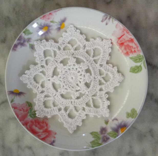 2019 Hot Lace Cotton Crochet Placemat Cup Coaster Mug Kitchen