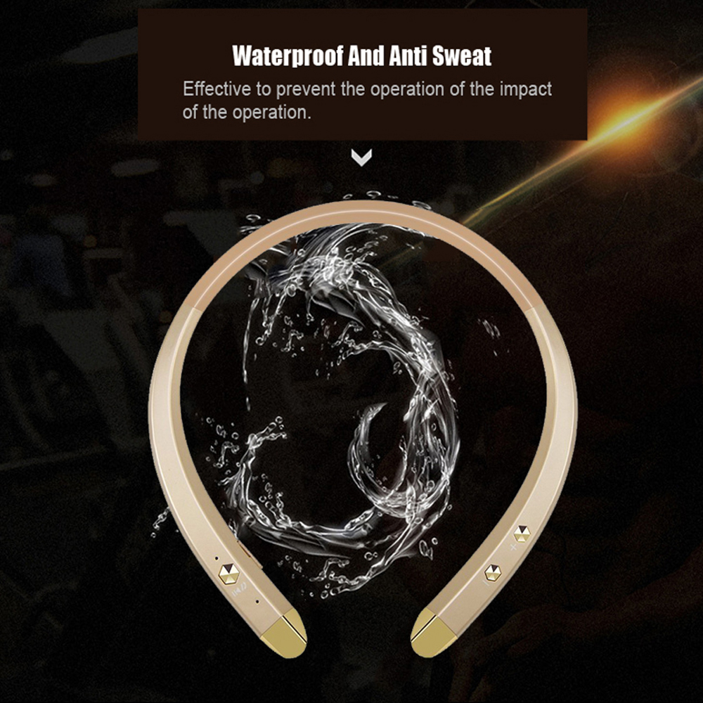 HOT! VTIN Wireless Earphone Bluetooth Sport Sweat-proof Headphone Hanging Ear Type Stereo Music w/ Mic for iOS Android Phones  wireless music bluetooth headset 4 mini head wear sport ear hanging ear type 4 1 universal running stereo can insert card radio