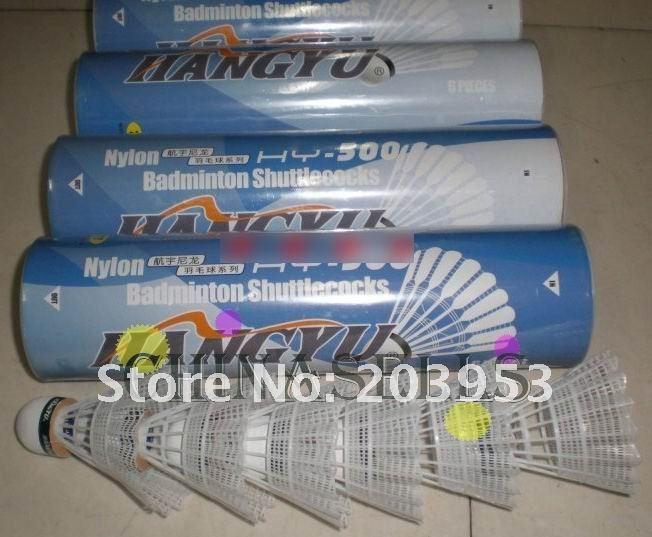 Free Ship Genuine Hangyu Nylon Ball HY-500 Badminton Shuttlecock Shuttlecocks 1tube 6 Balls