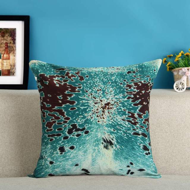 Ocean Coastal Turquoise Pillow Cover Cowhide Look Throw Cushion Case Mesmerizing Coastal Throw Pillow Covers