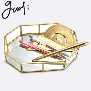 Image 5 - Guoyi S010 creative three dimensional brass glass office storage pen holder storage box and hotel room business jewelry gift box