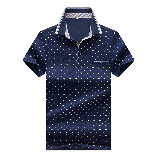 Hot Sale New 2017 Fashion Brand Men Polo Shirt Print Color Short-Sleeve Slim Fit Shirt Men Cotton polo Shirts Casual Shirts 3XL