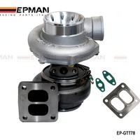 T78 T4 Twin Scroll Turbo Charger V Band For Racing Car Horsepower 500 1000HP With Gaskets