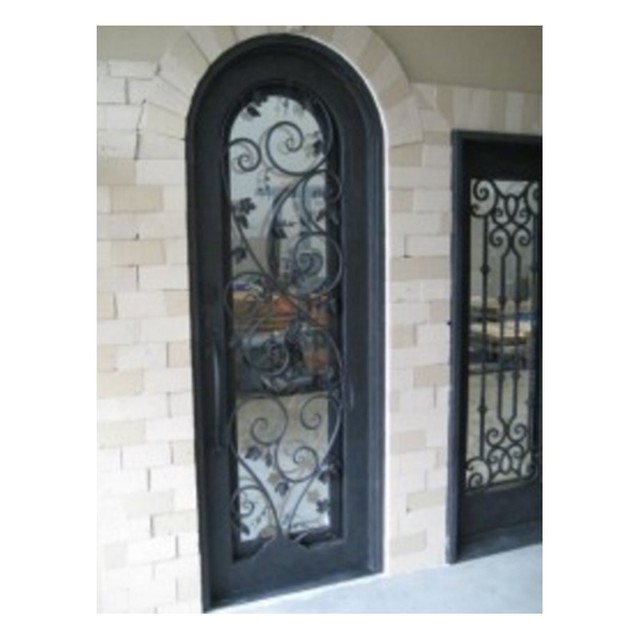 Residential Steel Double Entry Doors Wrought Iron Double Entry Doors