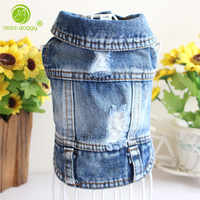 New 2018 Denim Pet Dog Clothes Pets Coat Cave Cowboy Puppy Dog Clothes for Dog XS-2XL Jeans Jacket Casual Style