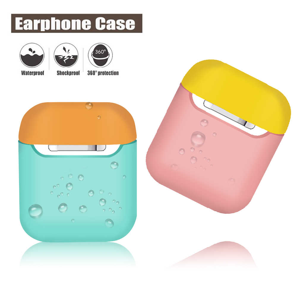 Capa de Silicone macio Para o iphone XS Max XR XS X Casos À Prova de Choque Capa Para iPhone Fone De Ouvido Vagens de Ar Ultra Fino protetor Caso