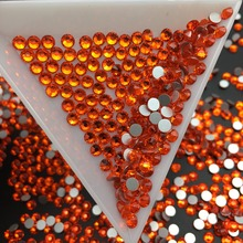 Good Quality ss3-ss34 Hyacinth Flat Back Non HotFix Nail Art  Rhinestones for Clothes Decorations