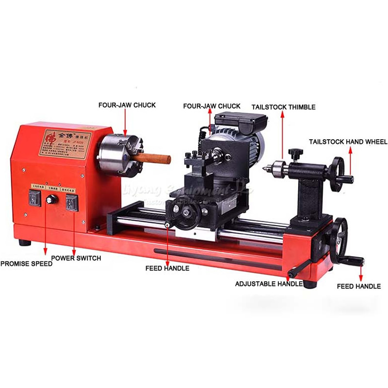 Mini Woodworking Lathe Wooden Beads Processing Hand String Miniature
