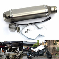for Motorcycle parts Exhaust Universal 51mm Stainless Steel Motorbike Exhaust Pipe For Aprilia For Triumph TIGER 800 XC/XCX/XR