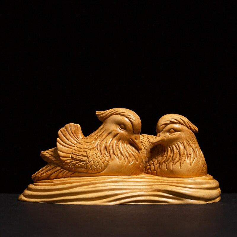 Une paire d'oiseaux de mariage cadeaux oiseau sculpté chambre Feng Shui décoration de vie, artisanat folklorique - 2