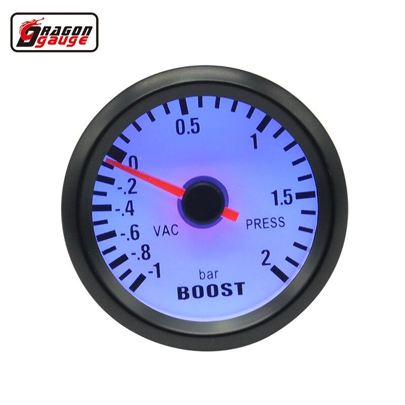 Drachen messer 52mm Blauer hintergrundbeleuchtung Auto Auto turbo ladedruckanzeige turbin gauge bar zeiger meter einheit bar und vac gauge meter