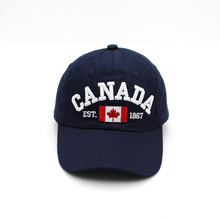 Canada National Flag Embroidered Baseball Cap Men Women Adult Unisex Cap Red Black White Navy Blue 4 Colors