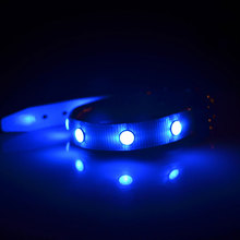 Luxury Safe LED Dog Collar For Cat Glow Pet Products TPU Luminous Necklace Gem Collars Size S M L