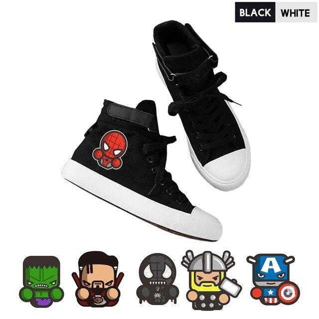 Herói Capitão América Thor Hulk Alta Superior E Macio Mulheres Sapatos Lace-Up Personalizar Estudante Sapatos Sneakers Mulheres A193291