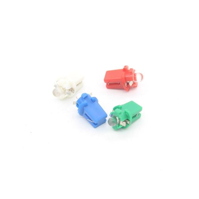 10X T5 LED Car External Light B8.3D Automobile Dashboard Warning Indicator LED Bulb Interior Lighting Dome Festoon Light Source