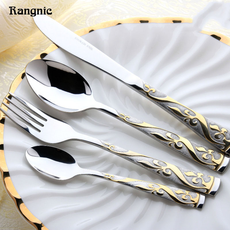 Rangnic Cutlery Set Stainless Steel Flatware Hotel Top