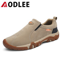 AODLEE Fashion Casual Shoes Men Sneakers Breathable Slip on Mens Shoes Casual Leather Shoes Men Comfortable Non Slip Footwear