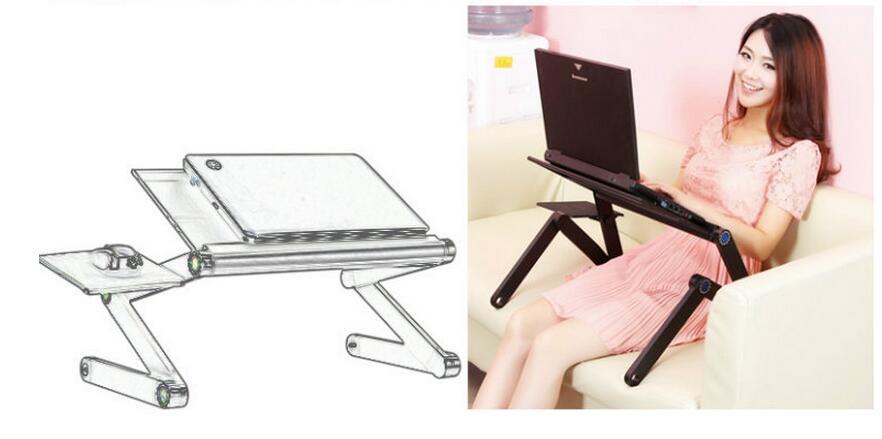 48 * 25 cm Sammenfoldeligt bærbart skrivebord Seng bærbart tablet - Møbel - Foto 6