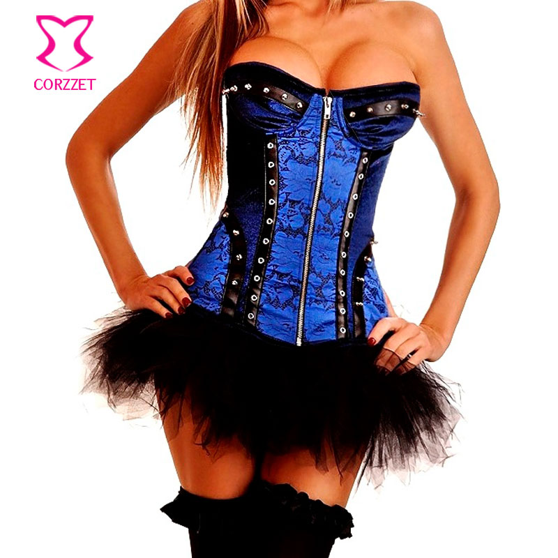 Popular Blue Steampunk Corset-Buy Cheap Blue Steampunk Corset lots ...